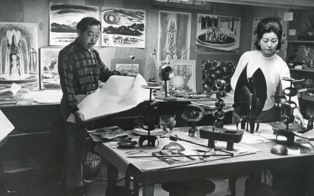 George and Ayame in the studio in the 1960s