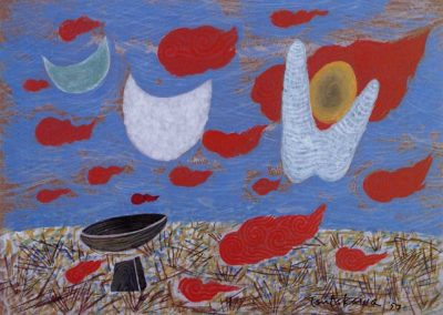 Flying Obos tempera 1957