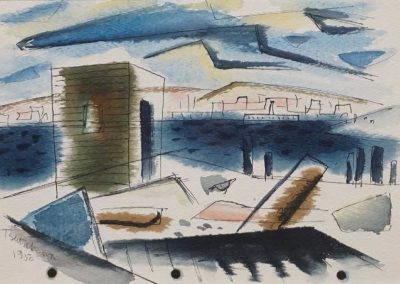 Untitled Two Sided Watercolor 1950